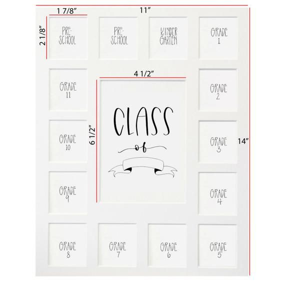 Class Of 2034 11x14 White Picture Mat Preschool 12 15 Opening Mat Only School Picture Frames White Picture Frames Black Picture