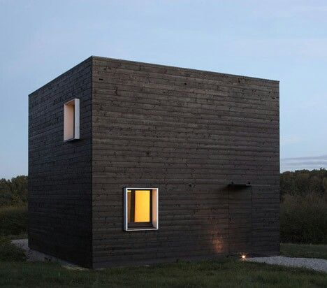 53 best black cube black box house images on pinterest for Minimalist residential architecture