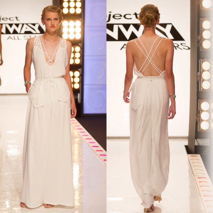White Jumpsuit - Project Runway Inspired