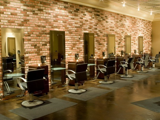 beauty salon lighting. salon with brick walls bing images beauty lighting