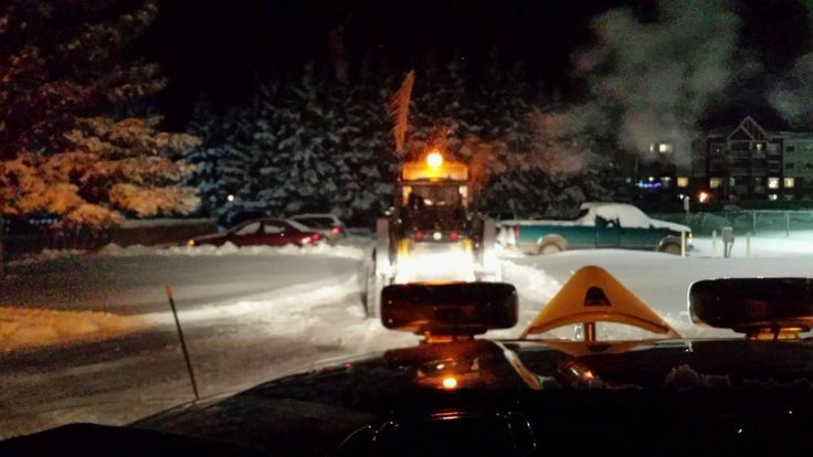 #snowremoval #SpruceGrove Working the midnight shift clearing snow in Spruce Grove, Alberta with a John Deer Skid Steer and GMC Denali Dually and Fisher plow. #Fisher #GMC #Dually #Diesel