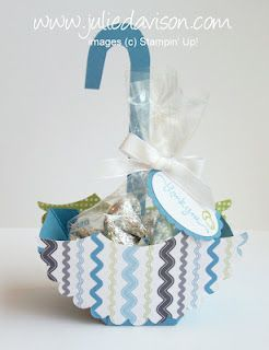 Umbrella Baby Shower Favor with Stampin' Up! Nursery Nest Designer Paper    Super cute!!