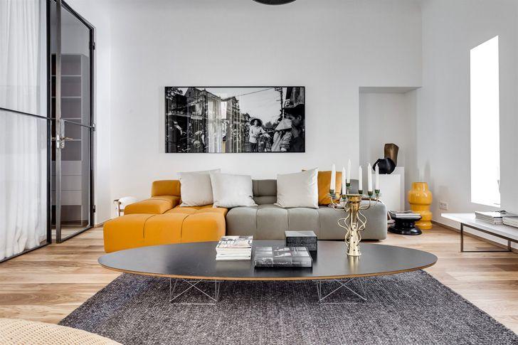 Современная двухкомнатная квартира в Швеции Если в качестве основы вы имеете просторную квартиру с высокими потолками и больш...  #квартира #минимализм #скандинавскийстиль #Швеция