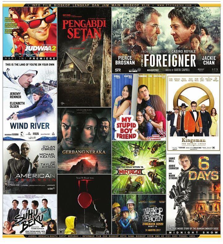 Inilah jadwal tayang film di bioskop-bioskop ibukota perlahan tapi pasti industri film Indonesia mulai menjadi tuan rumah di negeri sendiri salut!