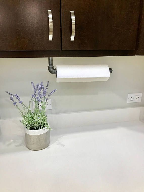Industrial Paper Towel Holder Rustic Kitchen Decor Modern