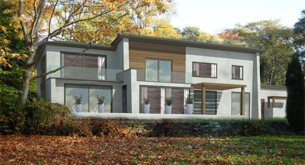 cedar flat roof 2 storey extension - Google Search