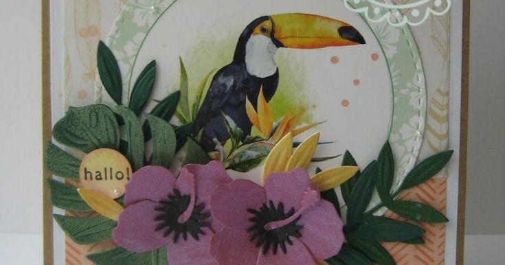 Het knipvel 'Tropical Birds' nodigt uit tot het maken van zomerse kaarten, mooi met de Hibiscus bloemen en tropische bladeren erbij! St...