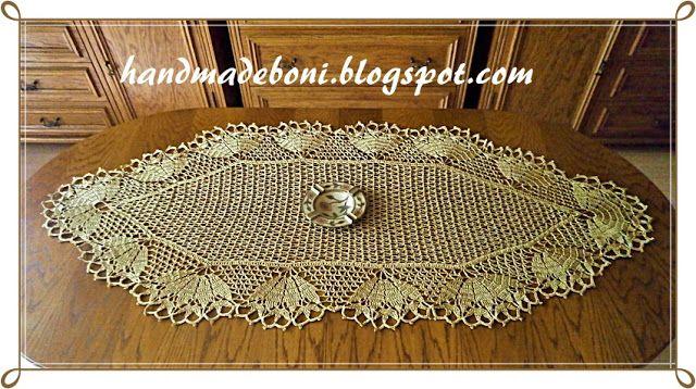 HandmadeBoni: Bieżnik w kolorze starego złota 120/60 cm. Zrób ra...