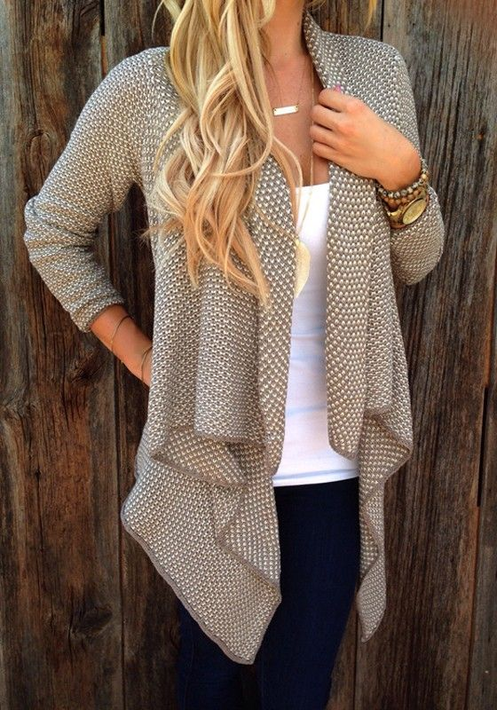 discount sneakers online Love the look of this Cardigan  Neutral Tones Draped Long Sleeve Loose Cardigan Sweater  Neutral  Cardigan  Fall  Fashion  Outfit  Ideas