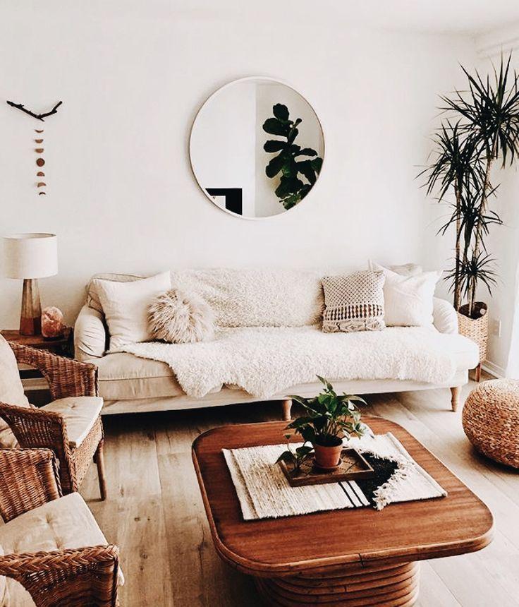 Bohemian 70s Style Living Room Wohnung Wohnzimmerdekoration