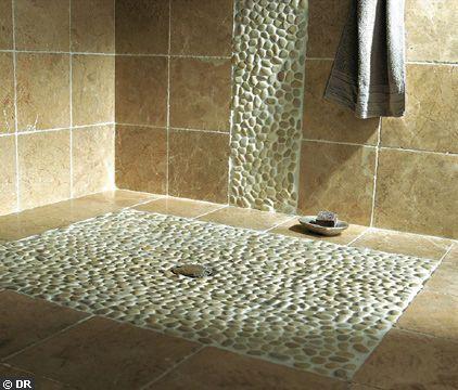 Salle de bain italienne mosa que teck ou galet salle de for Mosaique salle de bain italienne