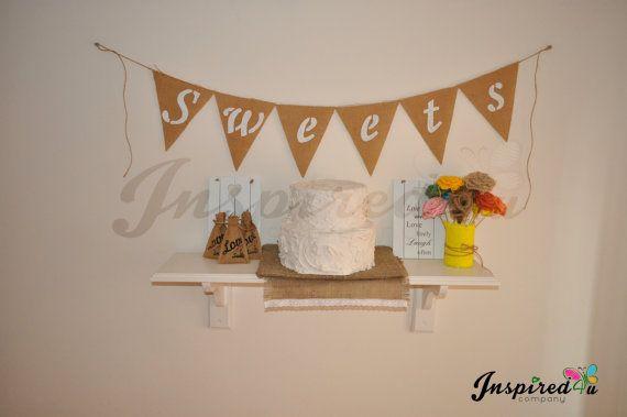 XL Sweets  Hessian Fabric Bunting Rustic by inspiredcompany4u, £7.99