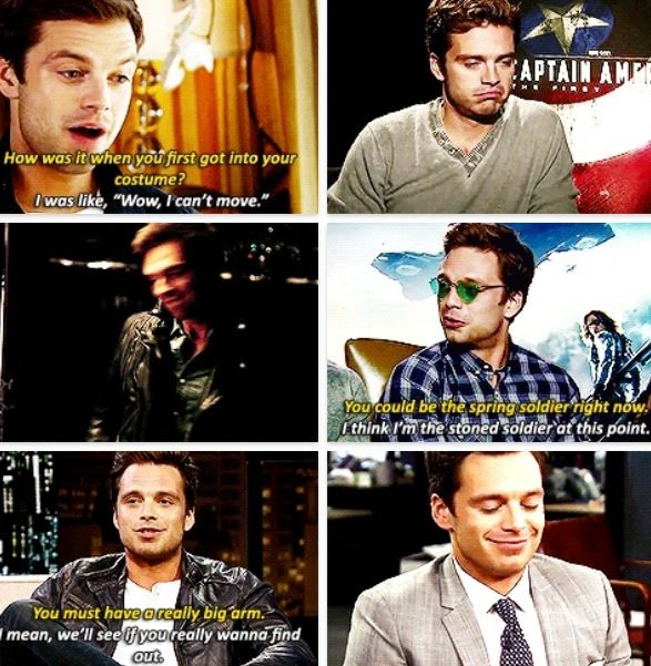 Sebastian Stan... What is he even... Oh nvm lol