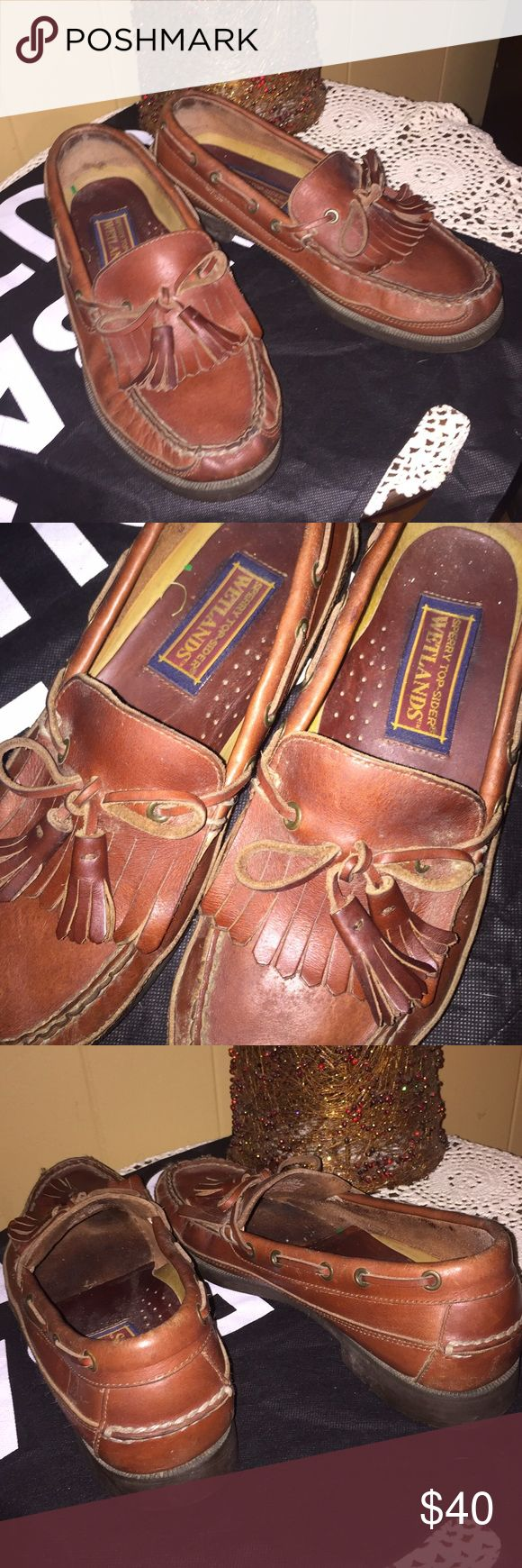 Sperry's Top Siders Boat Shoes. Preppy An awesome pair of genuine leather boat shoes! Preppy, Sperry's Top Siders. Men's size 8.5 (also fit women's size 10-10.5). Great condition! Sperry Top-Sider Shoes Boat Shoes