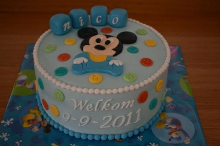 mickey mouse baby shower cakes Mickey mouse baby ...