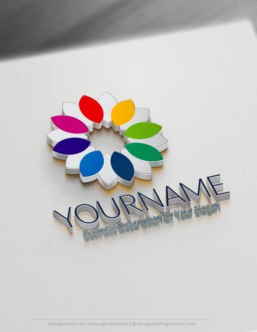 Free Logo Maker – Online Flower Logo Design