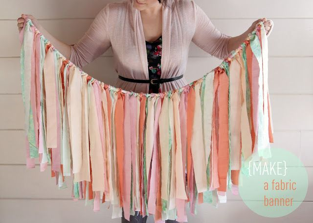 The Lovely Cupboard: DIY: Make A Fabric Banner