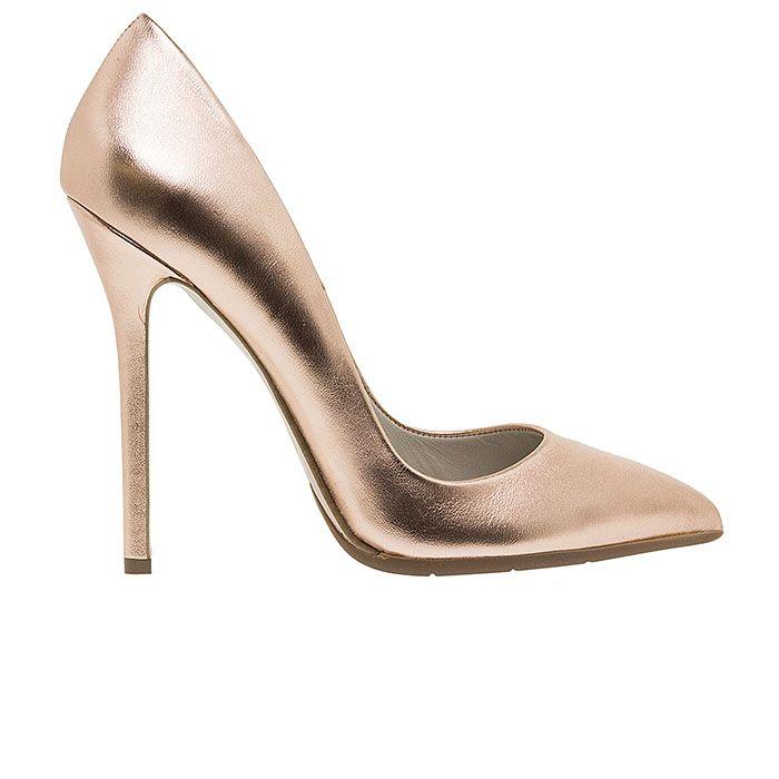 1203A00-RAME LEATHER www.mourtzi.com #pumps #heels #mourtzi #metallics