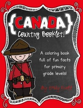 Canada Booklet (A Country Study) -- Use during social studies units about countries around the world! TeachersPayTeachers