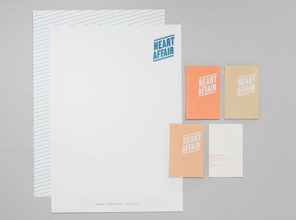 heart affair on Behance #stationary #letterhead