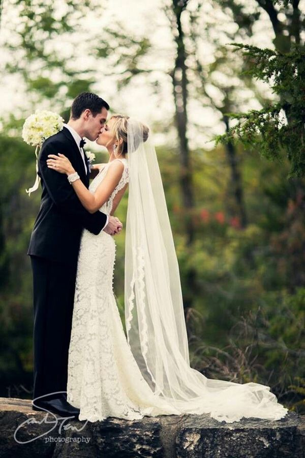 Romantic wedding photo in the forest. #wedding #photography