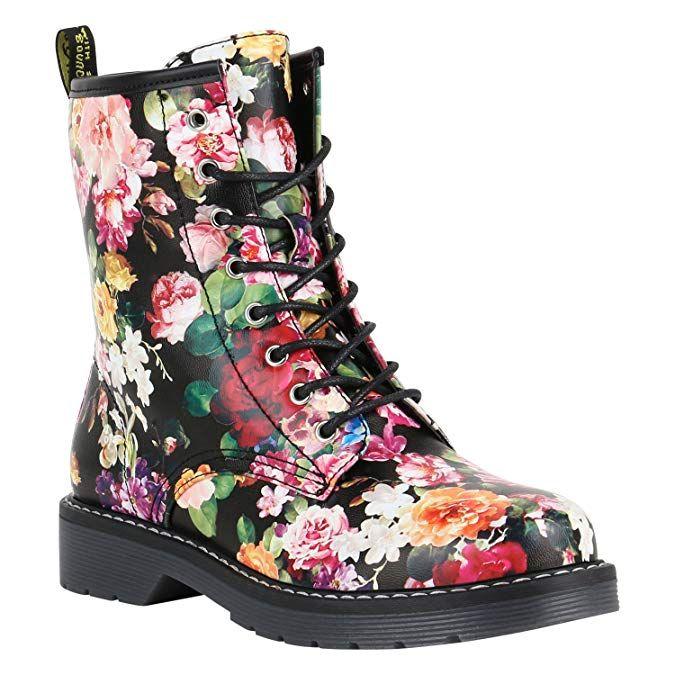 huge discount 3032d b7fef Affiliate: Geschnürte Damen Worker Boots Profil Sohle Punker ...