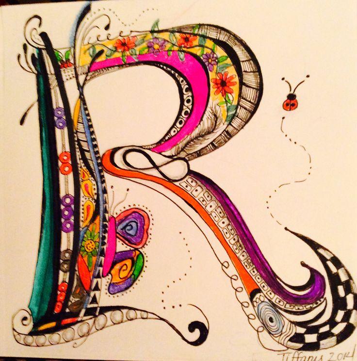 creative alphabet letters - 736×744