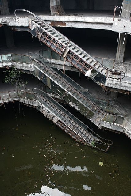 Abandoned Mall - Bangkok. Strangely beautiful.