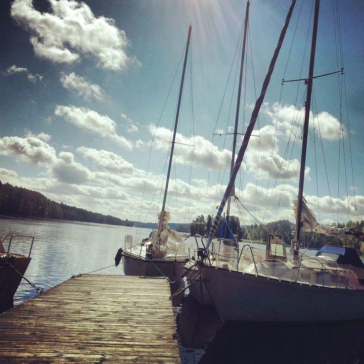 Sailing, Päijänne, Finland