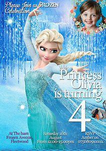 Inviti Per Festa Di Compleanno Personalizzati Frozen Principessa Elsa 8 | eBay