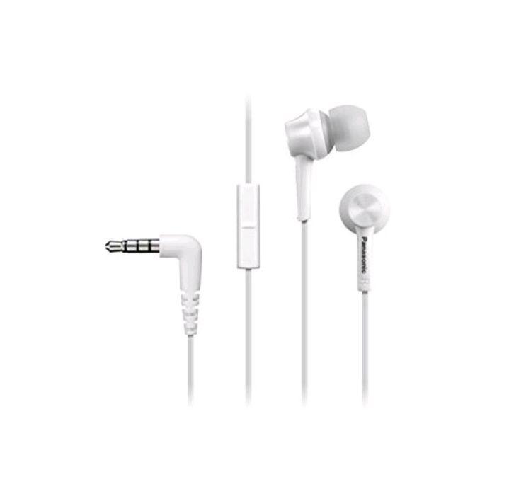 Panasonic RP-TCM105E-W - Auriculares con micrófono, color blanco.  Sonido nítido con excelente aislamiento acústico.  Los auriculares internos equipados con micrófono en línea permiten la utilización con cualquier smartphone existente y reproducen el sonido con nitidez gracias al excelente aislamiento acústico.  Auriculares que permanecen ajustados al oído  Diseño de ajuste ergonómico  Los auriculares TCM105 están diseñados para proporcionar un perfecto ajuste al oído y mantener la comodidad…