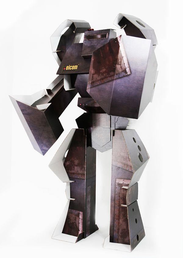 Cardboard Robot / Robot de Carton on Behance