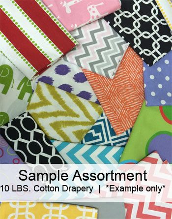 Cotton Drapery Fabric by the Pound Goody Bag | Online Discount Drapery Fabrics and Upholstery Fabric Superstore!