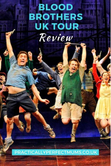 Blood Brothers tells the moving story of twin boys separated at birth. Read my Blood Brothers review with age-guidance here. Currently showing at Bristol Hippodrome.