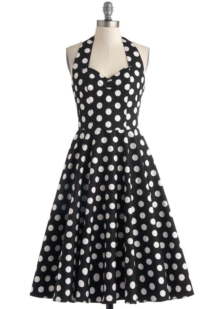 Like, Oh My Dot! Dress in Black, #ModCloth
