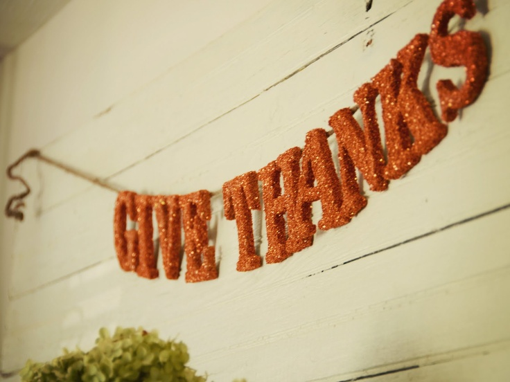 .: Glitter Thanksgiving, Give Thanks, Fall Decor, Thanksgiving Decor, Autumn, Miss Mustard Seeds, Cardboard Letters, Glitter Letters, Banners
