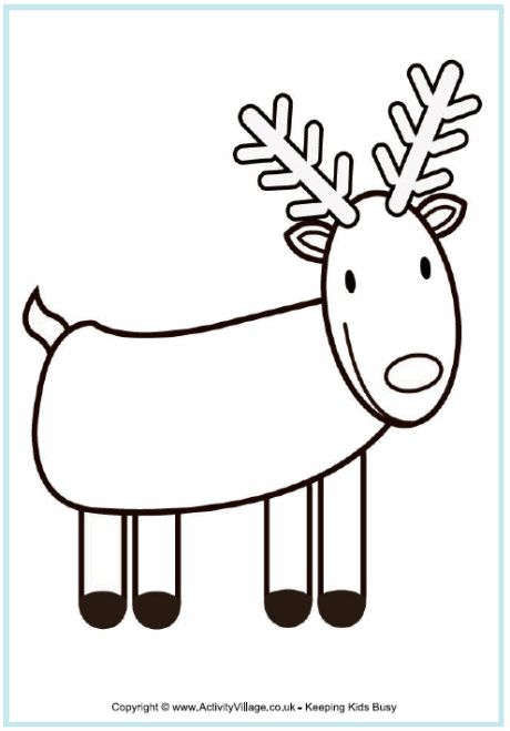 15 best images about inkleur prentjies on pinterest for Reindeer coloring pages