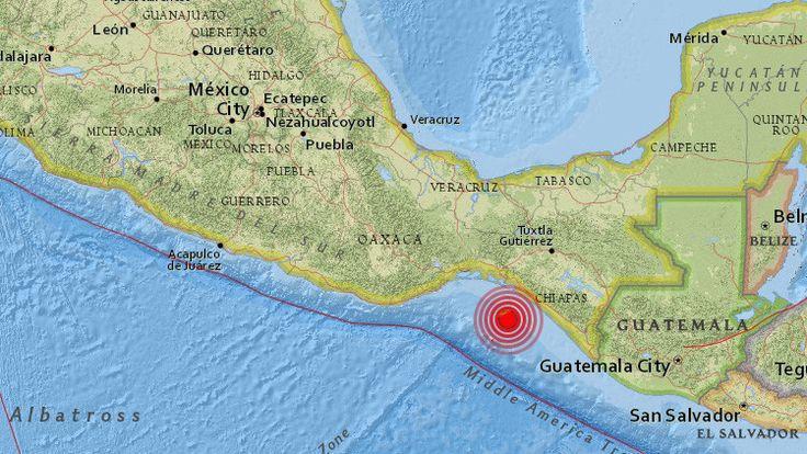 (adsbygoogle = window.adsbygoogle || []).push();   Un terremoto de magnitud 5,8 ha sacudido este domingoChiapas (México),informael Servicio Sismilógico Nacional (SSN). El epicentro del sismo se ha localizado a una profundidad de 57kilómetros y a unos 122kilómetros de...