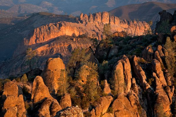 Sunrise over Pinnacles National Park in California [Photo by Spring Images/Alamy]