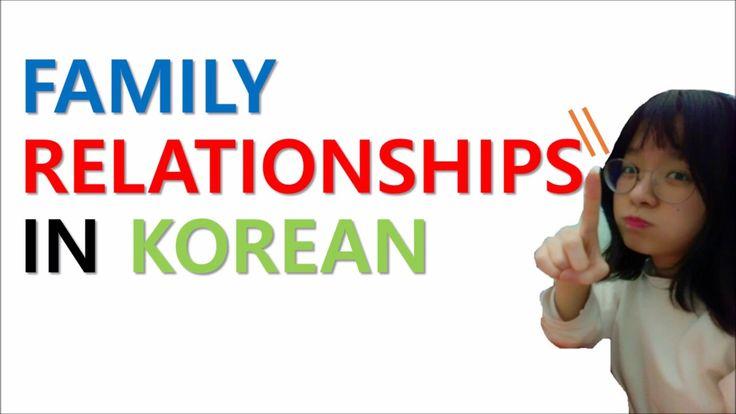 Learn Korean-Family relationship in Korean, Kinship in Korean.