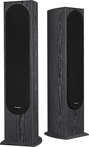 "Pioneer - 5-1/4"" Floor Speaker (Each) - Black, SP-FS52"