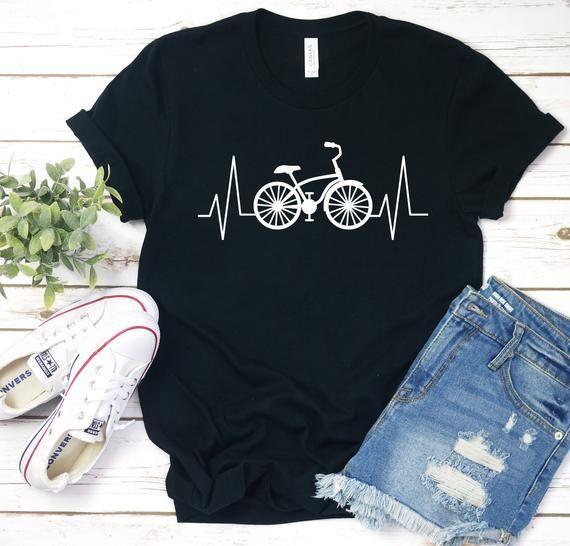 Unisex Cycling Tee Cyclist Heartbeat T-shirt