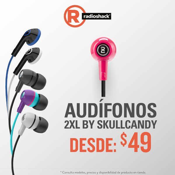 Radioshack Audífonos Skullcandy y Sony