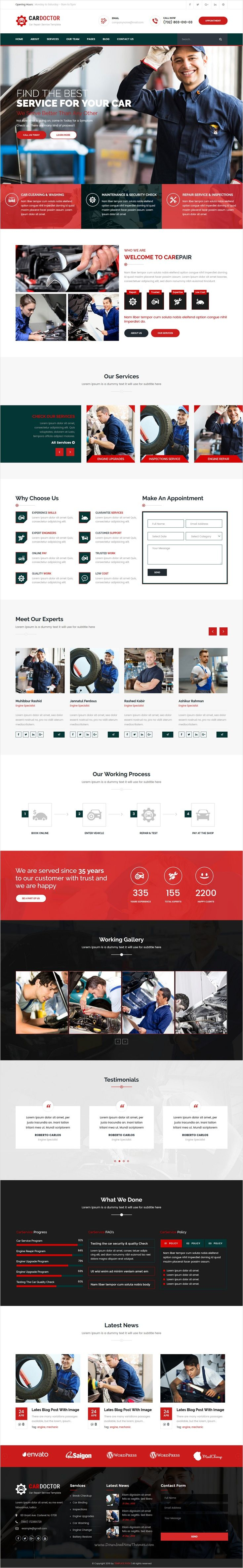 Car Doctor is beautifully design 2 in 1 #Bootstrap template for #Auto #Mechanic, #Garages, Workshops & Car Repair service website download now➩ https://themeforest.net/item/car-doctor-auto-mechanic-car-repair-template/17374562?ref=Datasata