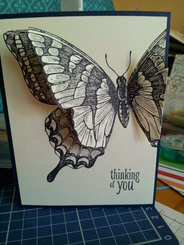 Swallowtail Background Stamp