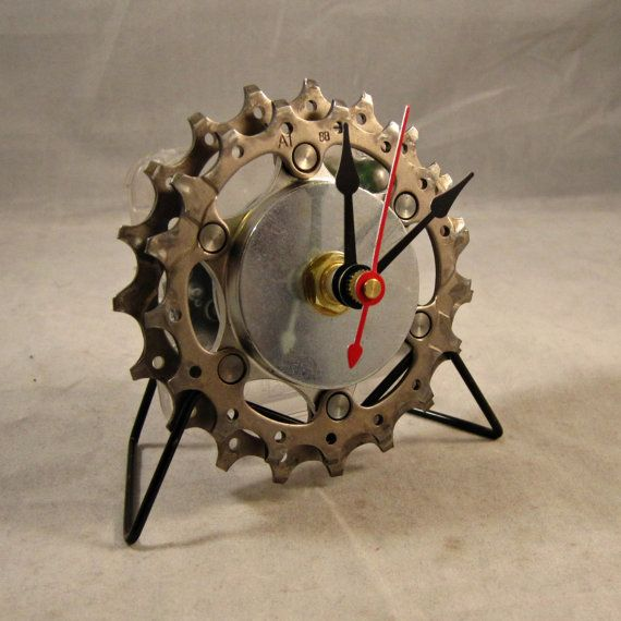Steampunk Recycled Bicycle Parts and Copper Pipe by TheHippieSpot