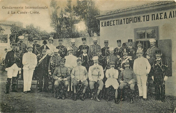 GREECE CRETE GENDARMERIE INTERNATIONALE A LA CANEE POLICE EARLY 1900 VIEW | eBay