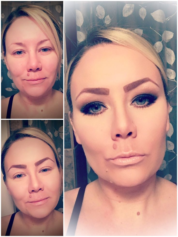 Before, during and after Smokey eye look!