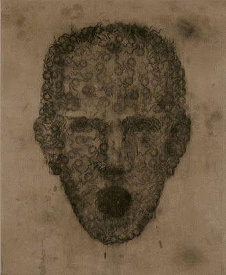 Daniel García - ¿Qué ves cuando me ves?, 1994, grafito y acrílico sobre lienzo, 150 x 122 cm