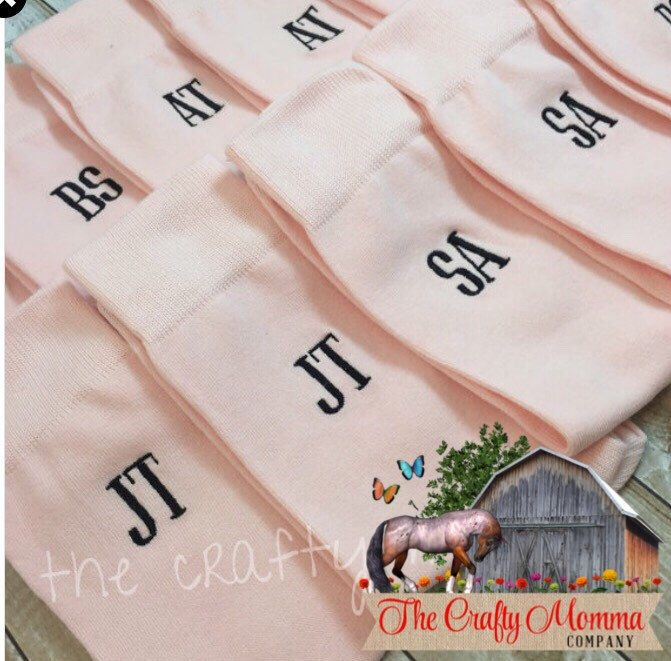 Blush Pink - Grooms Socks - Monogrammed Mens Dress Socks Groomsmen Gifts - wedding party gift - mens dress socks - wedding socks by TheCraftyMommaCo on Etsy https://www.etsy.com/listing/234538154/blush-pink-grooms-socks-monogrammed-mens